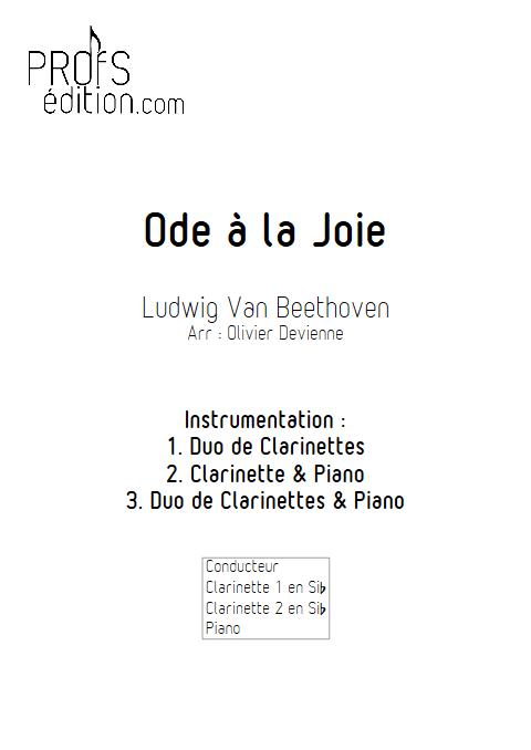 Ode à la joie - Duos, Trio - BEETHOVEN L. V. - front page