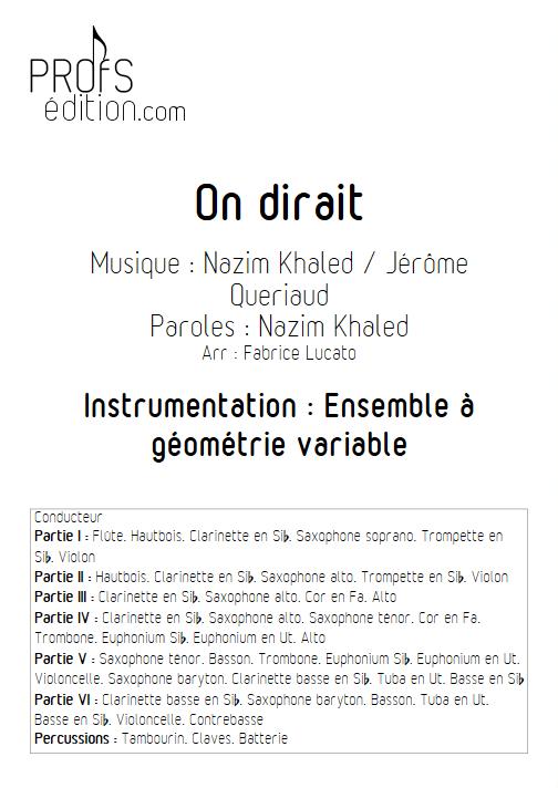 On dirait - Ensemble à Géométrie Variable - AMIR - front page