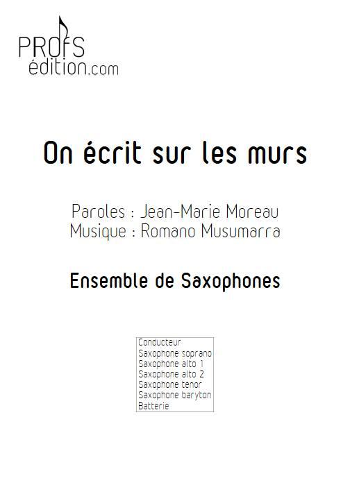 On écrit sur les murs - Ensemble de Saxophones - MUSUMARRA R. - front page
