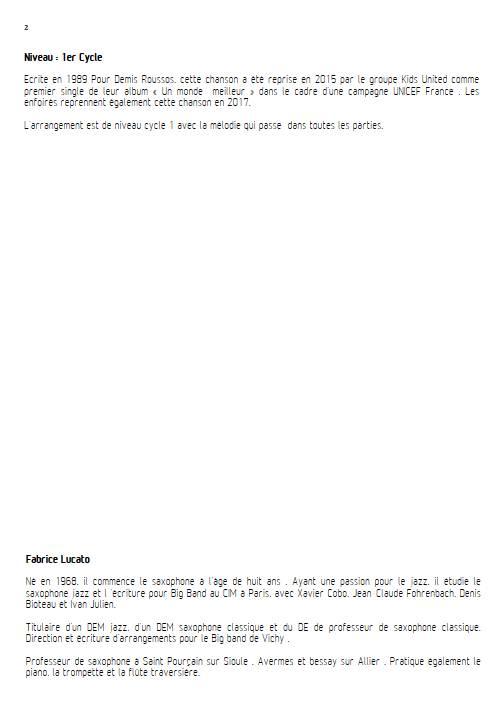 On écrit sur les murs - Ensemble de Saxophones - MUSUMARRA R. - Educationnal sheet
