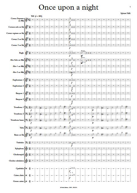 Once upon a night - Brass Band - TALLE S. - app.scorescoreTitle