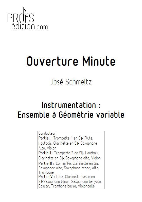 Ouverture Minute - Ensemble à Géométrie Variable - SCHMELTZ J. - front page