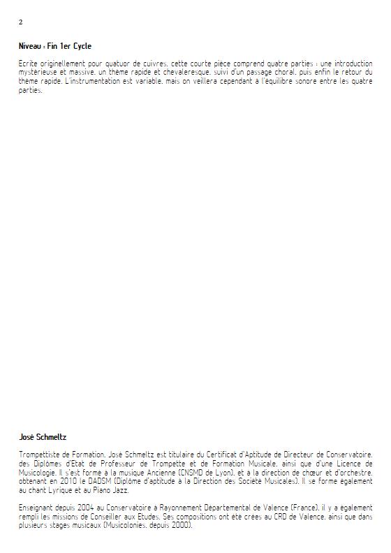 Ouverture Minute - Ensemble à Géométrie Variable - SCHMELTZ J. - Educationnal sheet