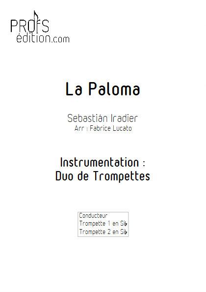 La Paloma - Duo de Trompettes - IRADIER S. - front page