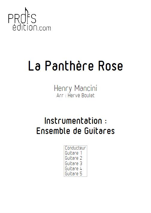 La Panthère Rose - Ensemble de Guitares - MANCINI H. - front page