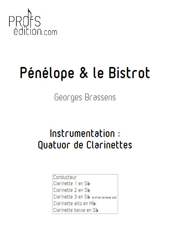 Pénélope & Le Bistrot - Quatuor de Clarinettes - BRASSENS G. - front page