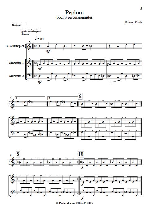 Peplum - Trio Percussions - PERDA R. - app.scorescoreTitle