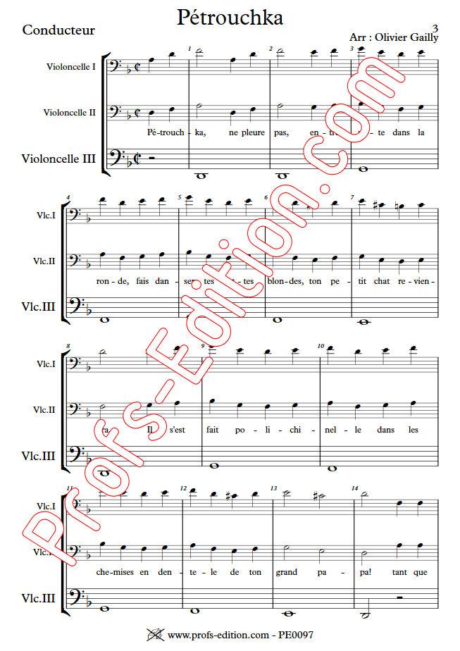Petrouchka - Trio Violoncelles - TRADITIONNEL - app.scorescoreTitle