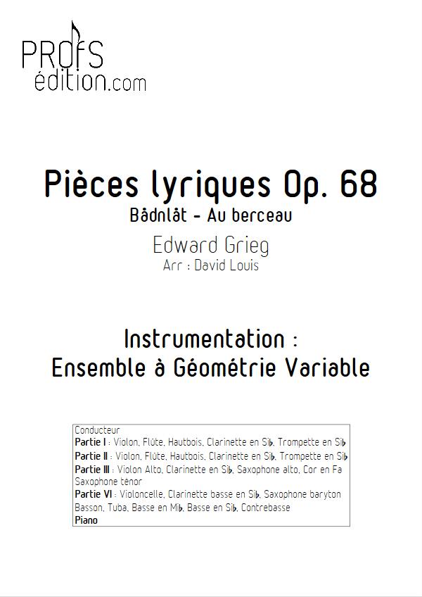 Pièce Lyrique Op.68 - Ensemble à Géométrie Variable - GRIEG E. - front page