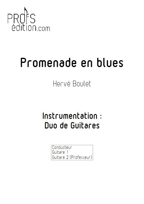 Promenade en Blues - Duo de Guitares - BOULET H. - front page