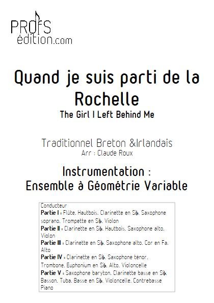 Quand je suis parti de la Rochelle - Ensemble à Géométrie Variable - TRADITIONNEL - front page