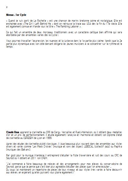 Quand je suis parti de la Rochelle - Ensemble à Géométrie Variable - TRADITIONNEL - Educationnal sheet