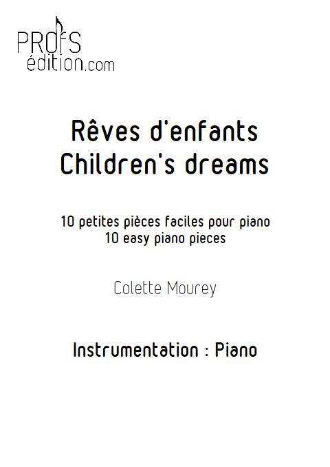 Rêves d'enfants - Piano - MOUREY C. - front page