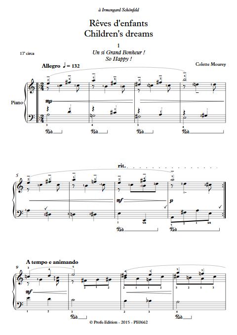 Rêves d'enfants - Piano - MOUREY C. - app.scorescoreTitle