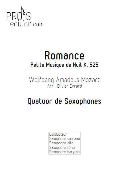 Romance - Quatuor de Saxophones - MOZART W. A. - front page