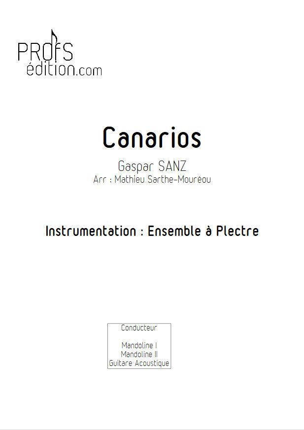 Canarios - Ensemble Plectres - SANZ G. - front page