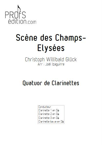 Scène des champs elysées - Quatuor de Clarinettes - GLUCK W. - front page