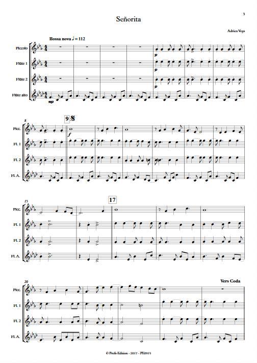 Señorita - Quatuor de Flûtes - VEYS A. - app.scorescoreTitle