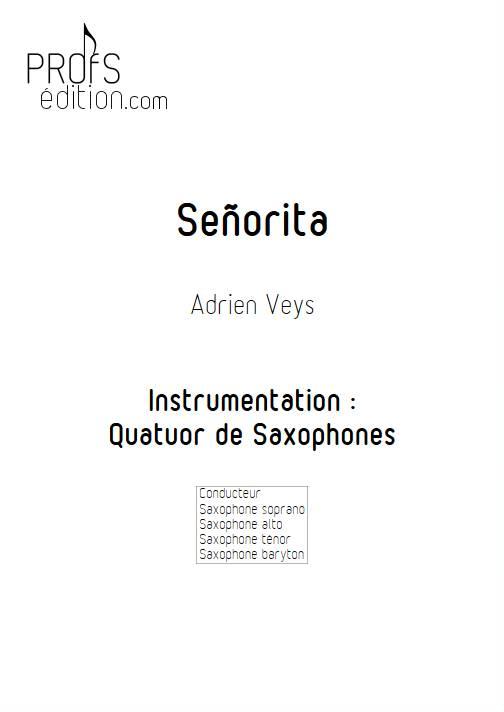 Señorita - Quatuor de Saxophones - VEYS A. - front page