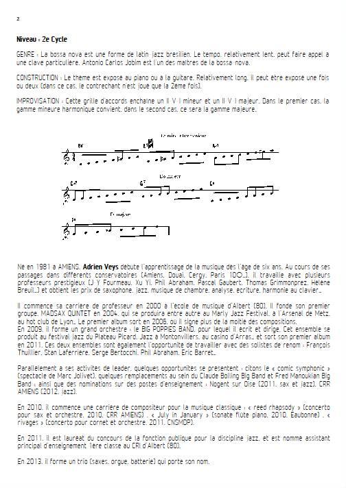 Señorita - Quatuor de Saxophones - VEYS A. - Educationnal sheet