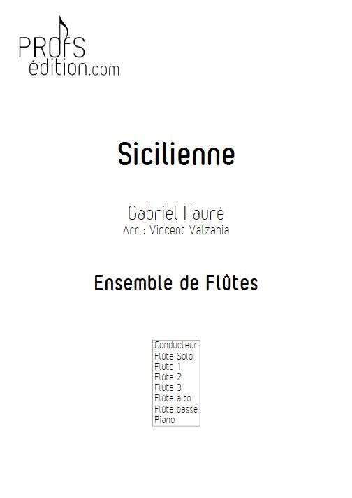 Sicilienne - Ensemble de Flûtes - FAURE G. - front page