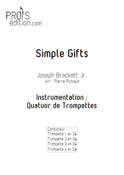 Simple Gifts - Quatuor de Trompettes - BRACKETT J. - front page