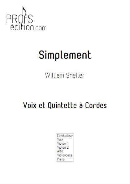 Simplement - Chant et Quintette à Cordes - SHELLER W. - front page