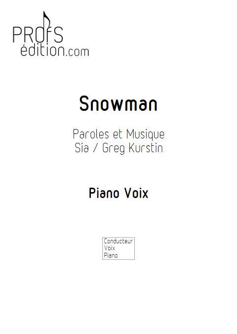 Snowman - Piano voix - SIA - front page