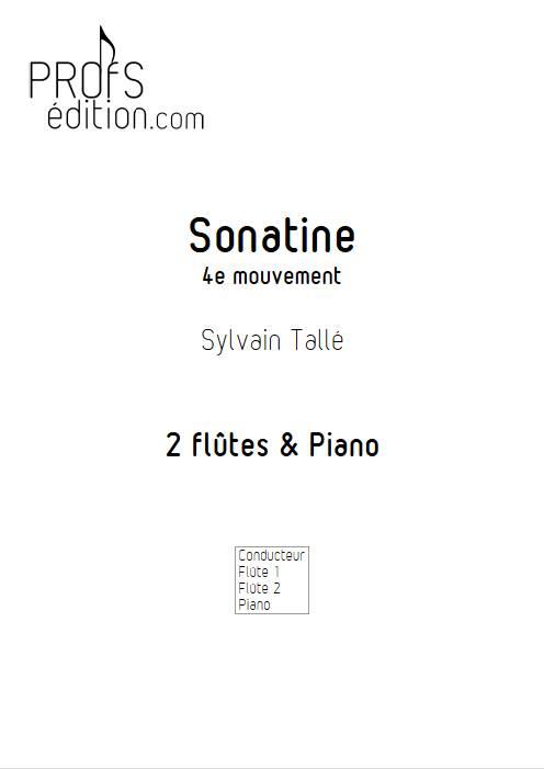 Sonatine - 4e mvt - Trio Flûtes Piano - TALLE S. - front page