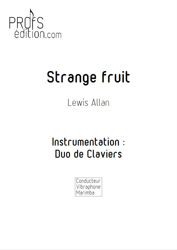Strange Fruit - Duo Vibraphone Marimba- ALLAN L. - front page