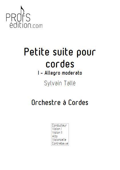 Petite suite pour cordes - 1er mvt - Orchestre à cordes - TALLE S. - front page