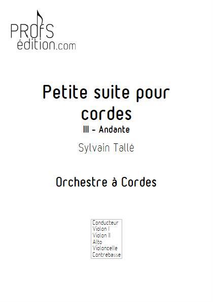 Petite suite pour cordes - 3er mvt - Orchestre à cordes - TALLE S. - front page