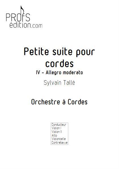 Petite suite pour cordes - 4e mvt - Orchestre à cordes - TALLE S. - front page