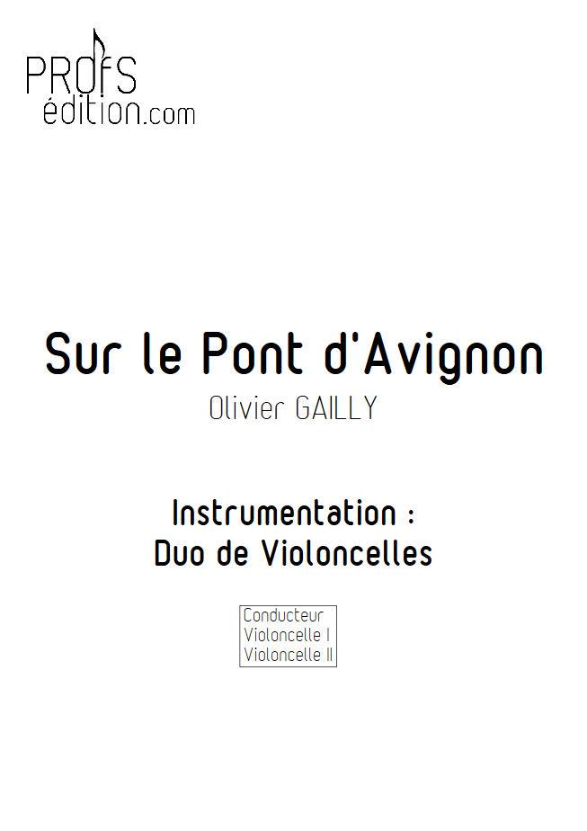 Sur le Pont d'Avignon - Duo Violoncelles - TRADITIONNEL - front page
