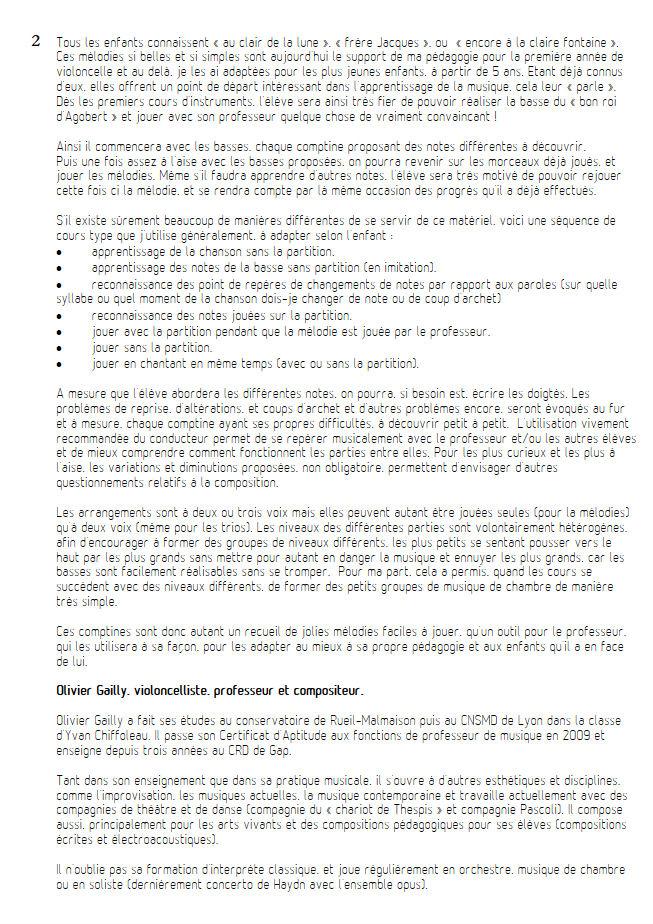 Sur le Pont d'Avignon - Duo Violoncelles - TRADITIONNEL - Educationnal sheet