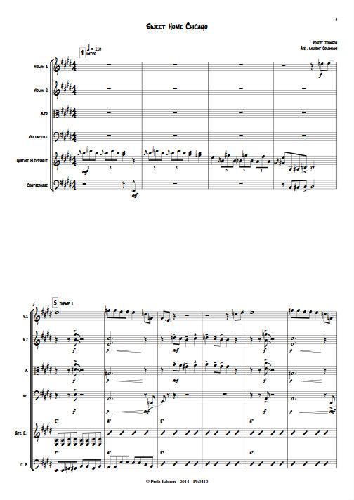 Sweet Home Chicago - Sextuor à Cordes - JOHNSON R. L. - app.scorescoreTitle