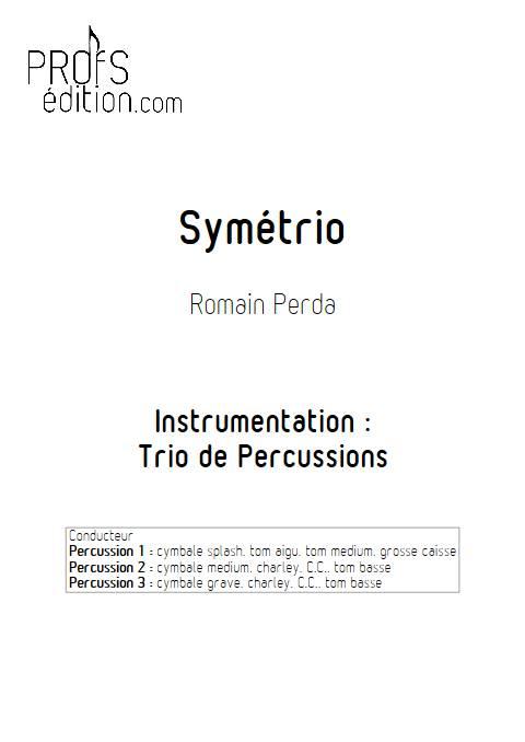 Symétrio - Trio de Percussions - PERDA R. - front page