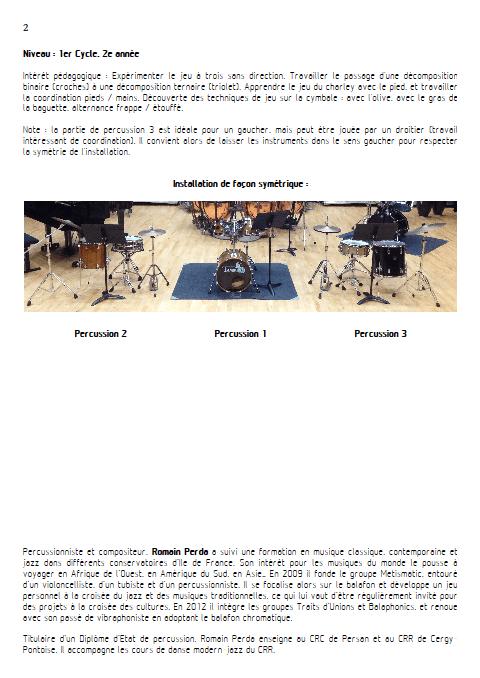 Symétrio - Trio de Percussions - PERDA R. - Educationnal sheet