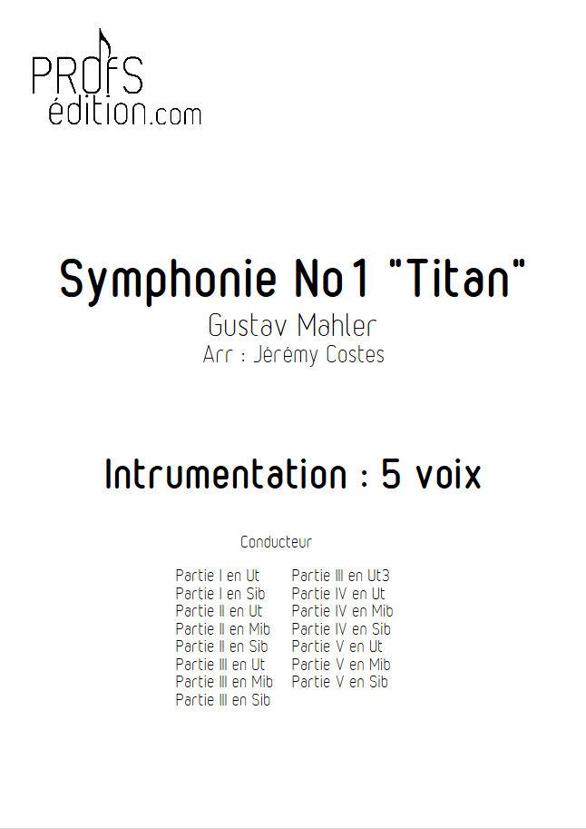 Symphonie n°1 le Titan - Ensemble Géométrie Variable - MAHLER G. - front page