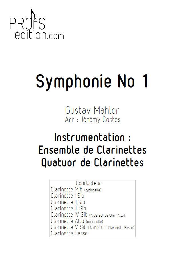 Symphonie n°1 le Titan - Quatuor Clarinettes - MAHLER G. - front page