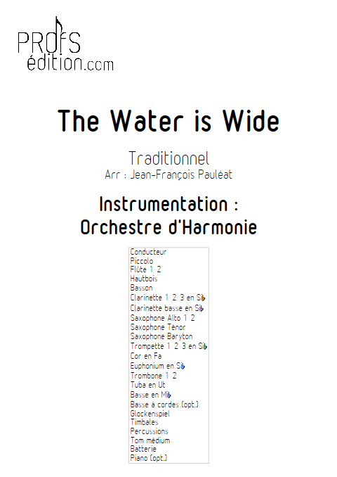 The Water is Wide - Orchestre d'Harmonie - TRADITIONNEL IRLANDAIS - front page