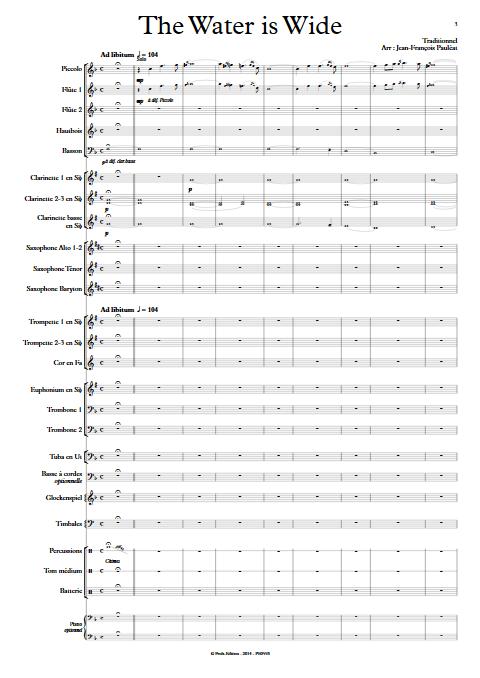 The Water is Wide - Orchestre d'Harmonie - TRADITIONNEL IRLANDAIS - app.scorescoreTitle