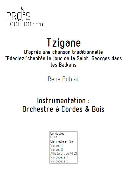 Tzigane - Orchestre Symphonique - POTRAT R. - front page