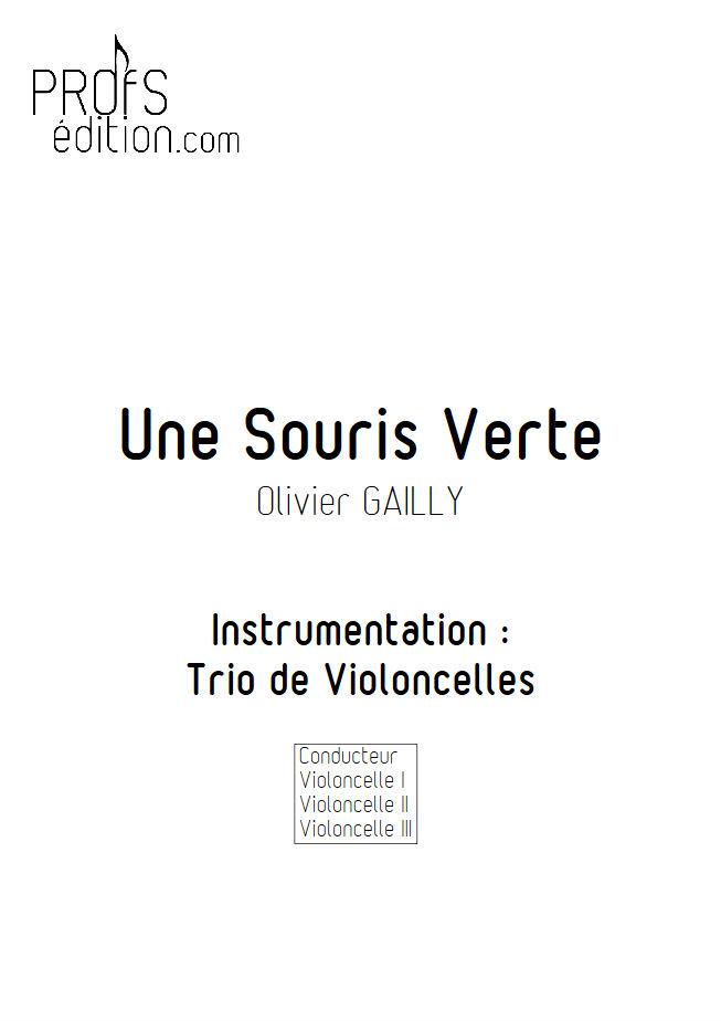 Une Souris Verte - Trio Violoncelles - TRADITIONNEL - front page