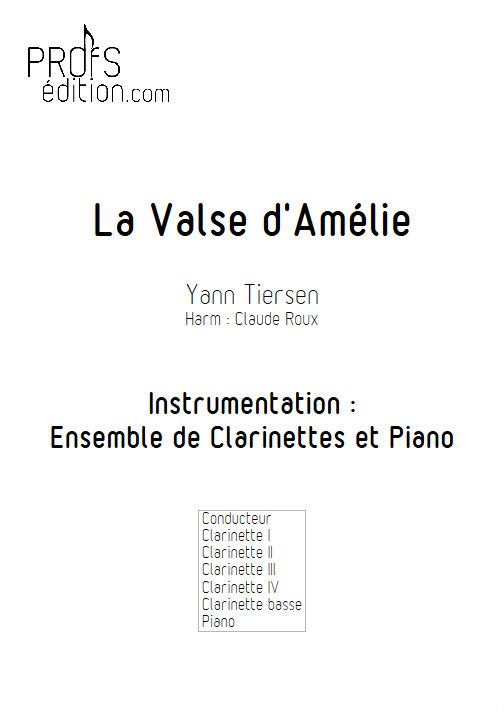 La Valse d'Amélie Poulain - Ensemble de Clarinettes - TIERSEN Yann - front page