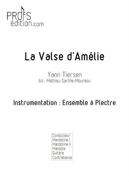 La Valse d'Amélie Poulain - Ensemble Plectres - TIERSEN Y. - front page