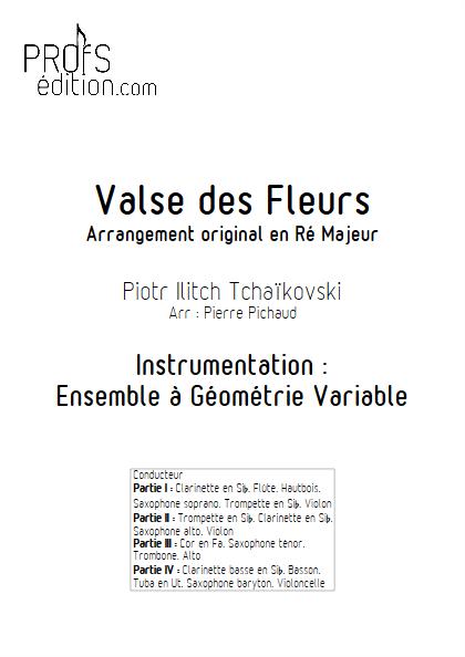Valse des Fleurs - Ensemble à Géométrie Variable - TCHAIKOVSKY P. I. - front page