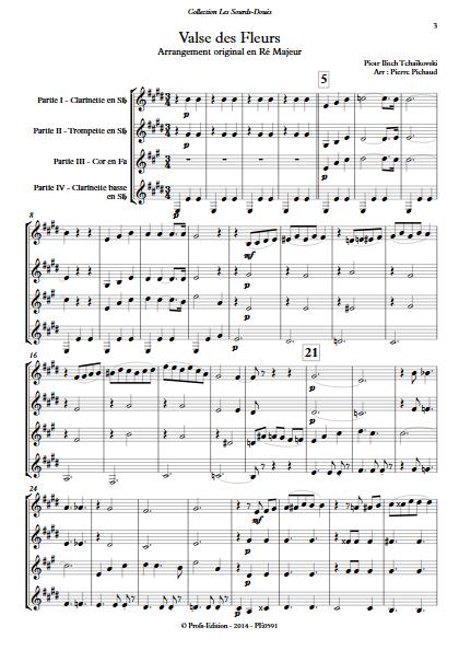 Valse des Fleurs - Ensemble à Géométrie Variable - TCHAIKOVSKY P. I. - app.scorescoreTitle