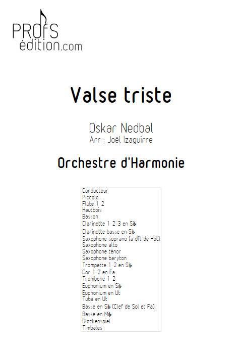 Valse triste - Orchestre d'Harmonie - NEBDAL O. - front page