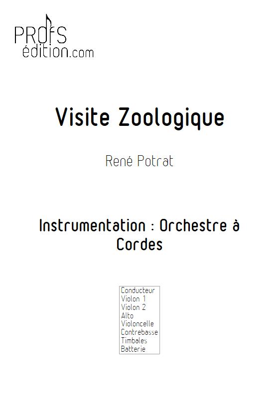 Visite Zoologique - Orchestre à Cordes - POTRAT R. - front page
